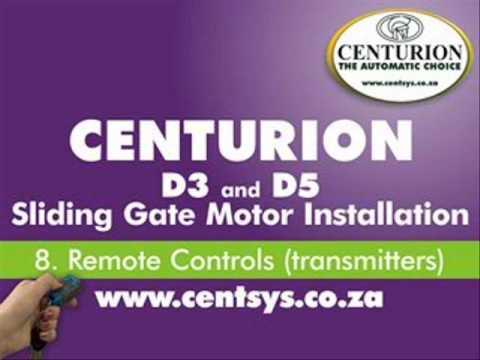 centurion d5 remote manual