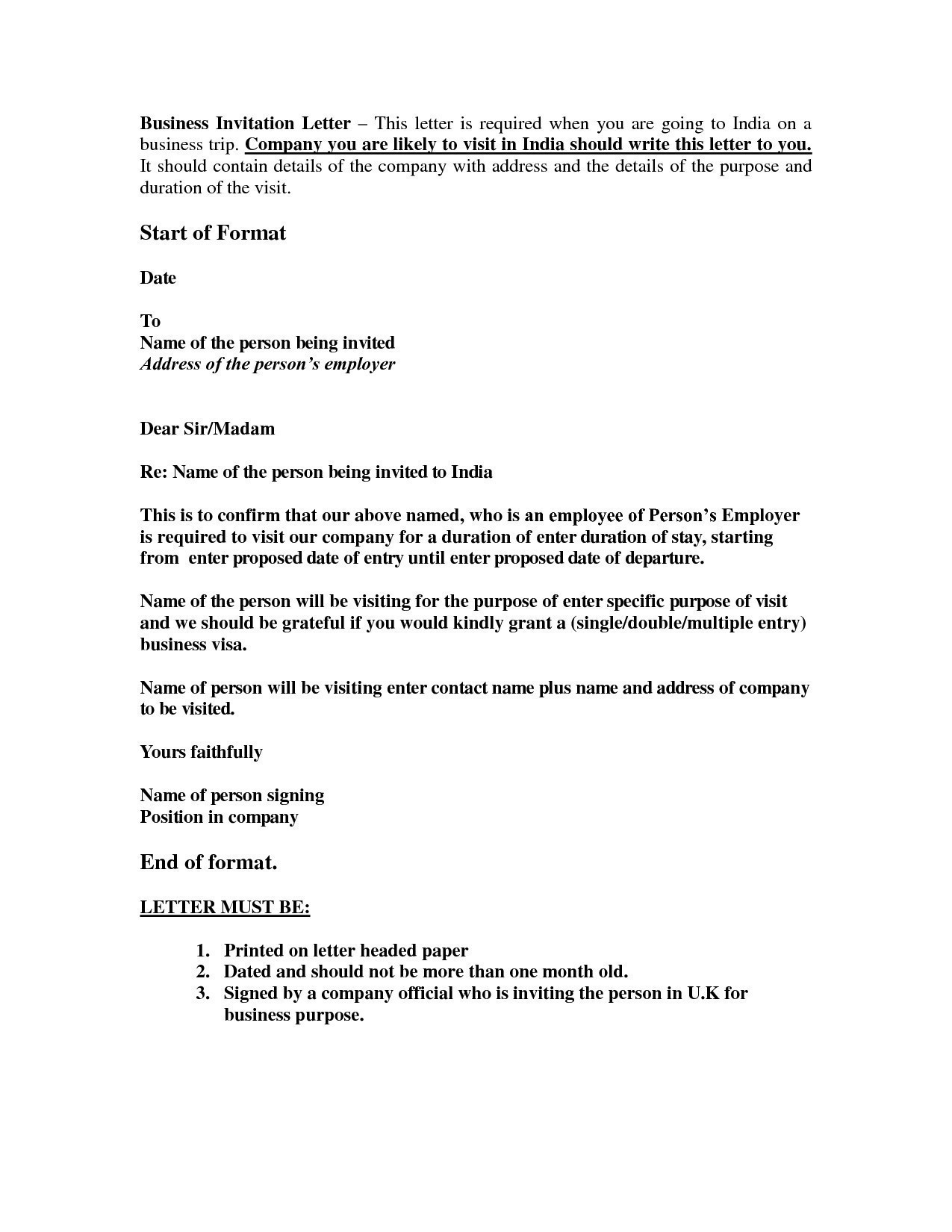 business invitation letter sample for schengen visa