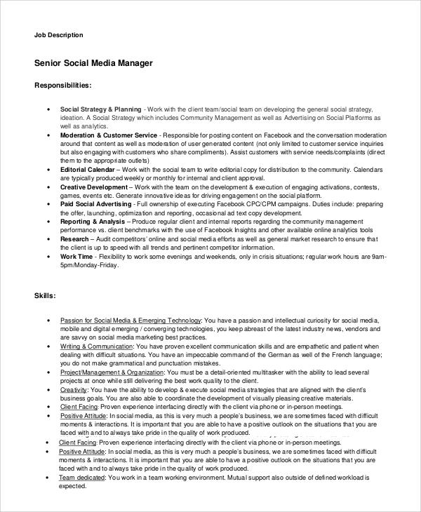 community manager job description pdf