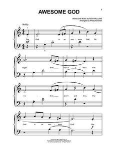 awesome god hillsong chords pdf