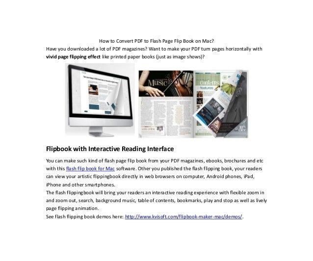 convert flip book to pdf