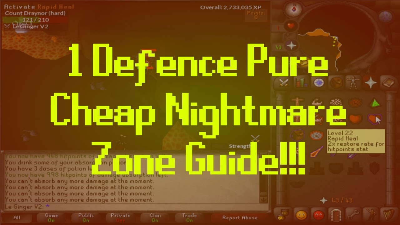 1 defence nmz guide