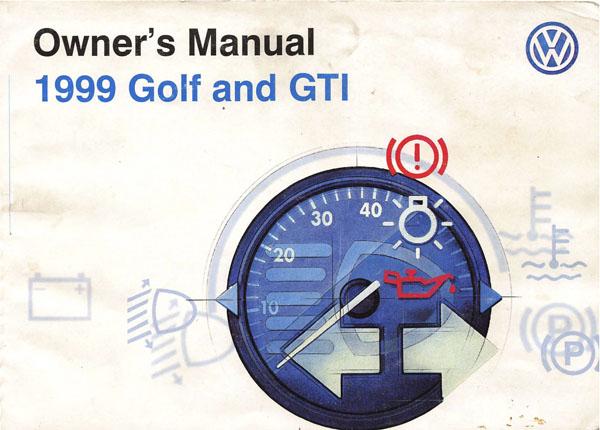 1999 vw golf manual