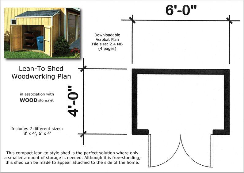 10x14 lean to shed plans free pdf