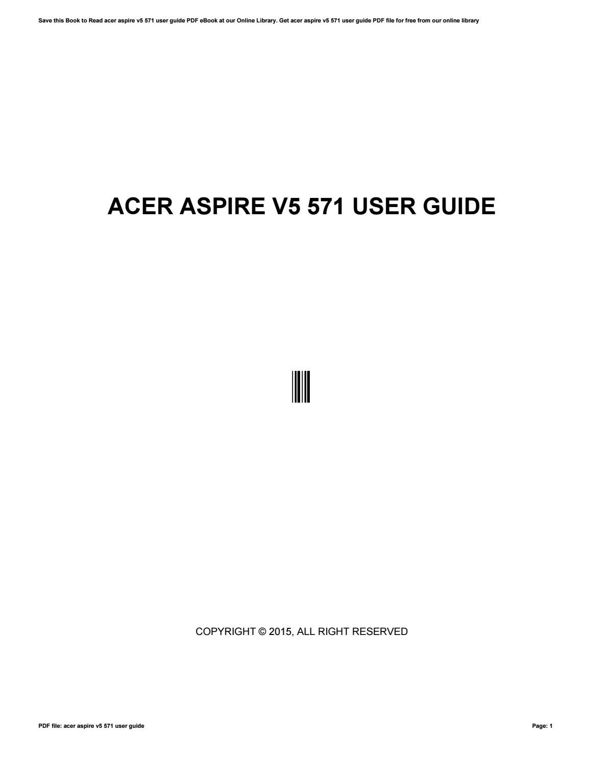 acer aspire v5 571 user manual