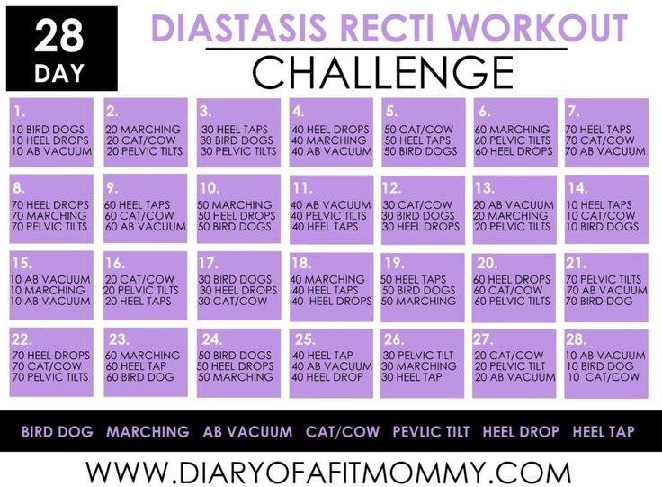 diastasis recti exercises pdf