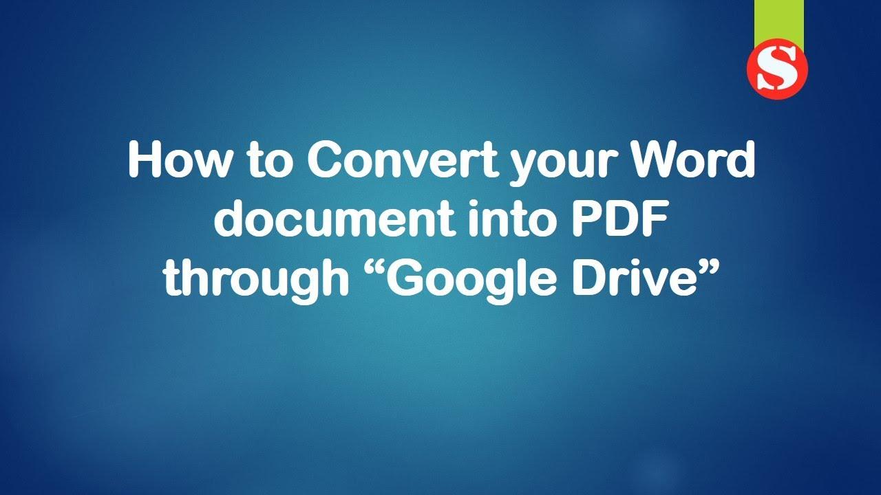 convert word into pdf i love