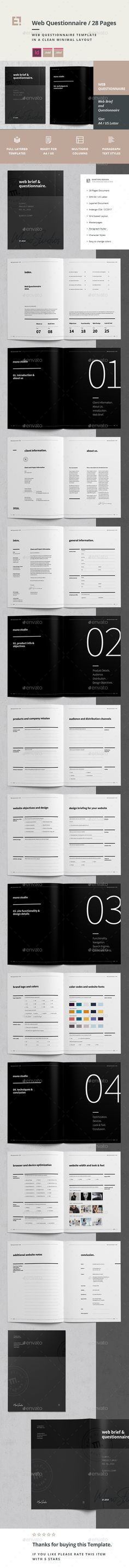brochure questionnaire sample
