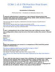 ccna 1 final exam pdf