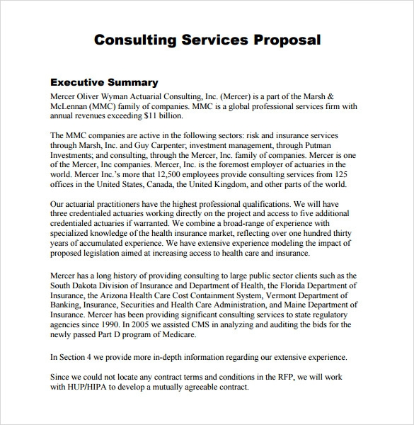 business consultant services pdf