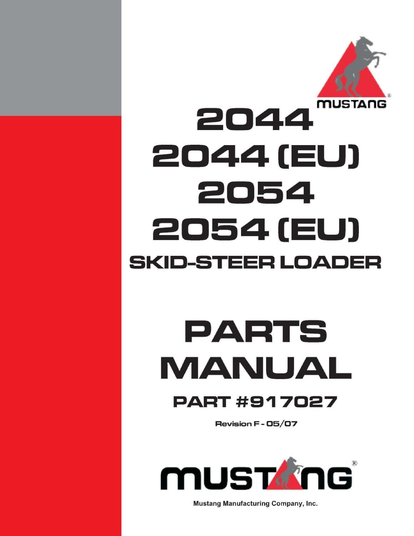 2054 mustang skid steer parts manual