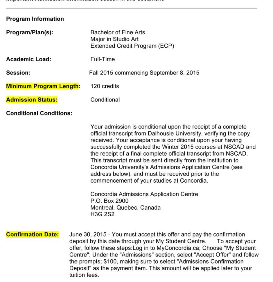 caq application fee