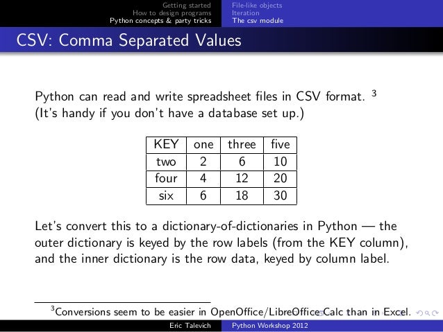 convert a csv to dictionary in python