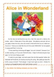 alice in wonderland short story pdf