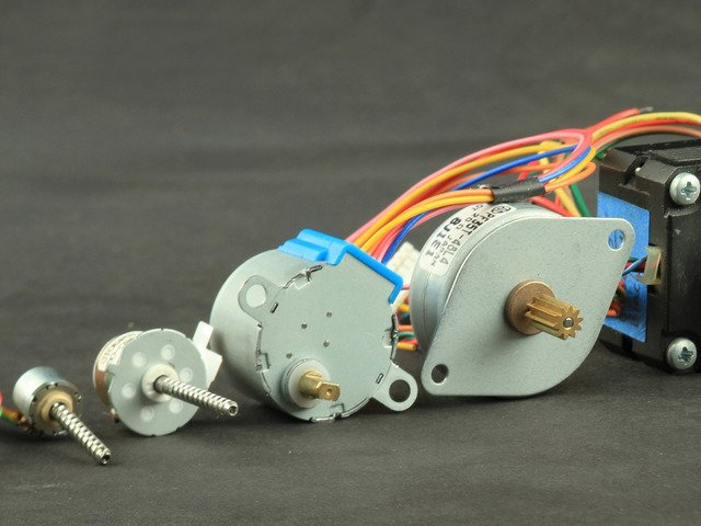 application of stepper motor and servo motor