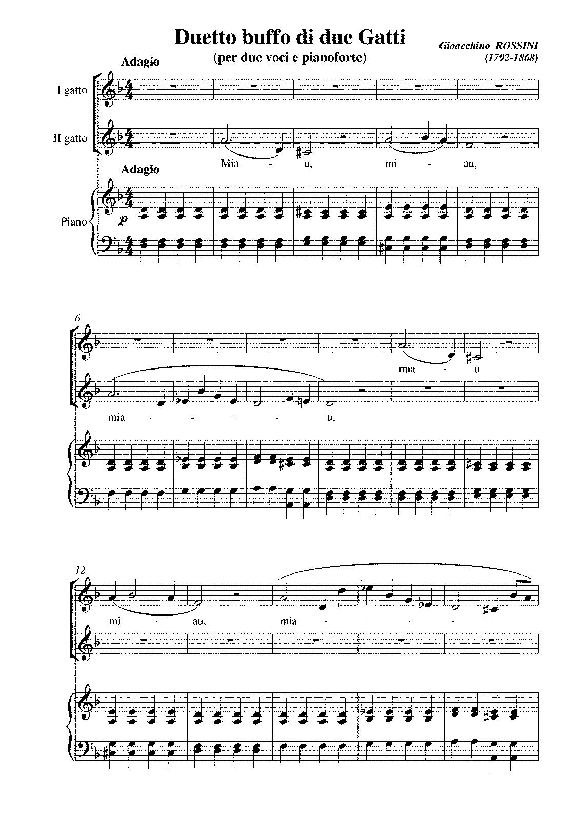 cat duet rossini pdf