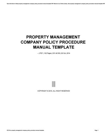 company policy manual