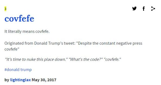 covfefe meaning dictionary