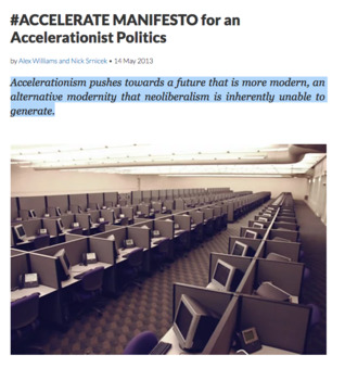 accelerate manifesto for an accelerationist politics pdf