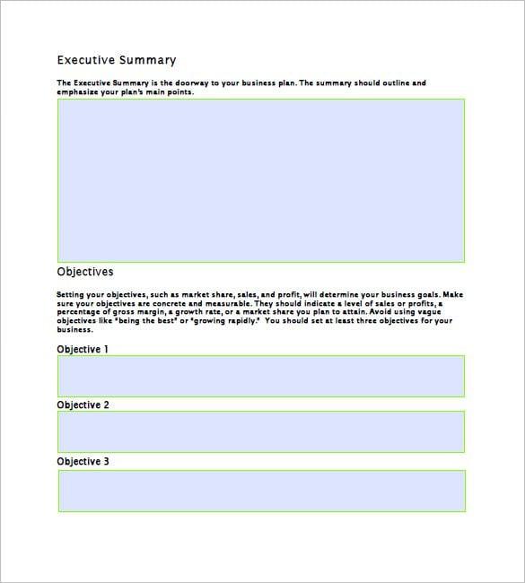 business plan sample free download