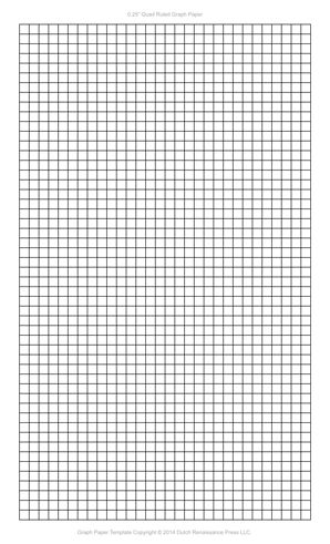 1 4 inch graph paper pdf