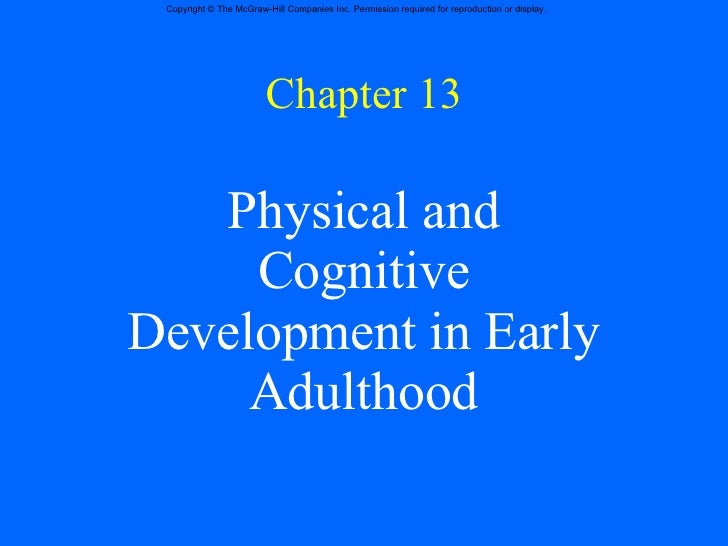 cognitive development in early adulthood pdf