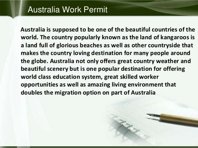 australia work visa online application