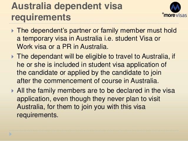 dependent child student visa application