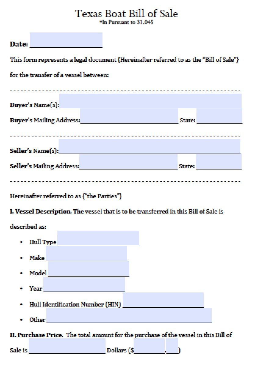 boat bill of sale pdf