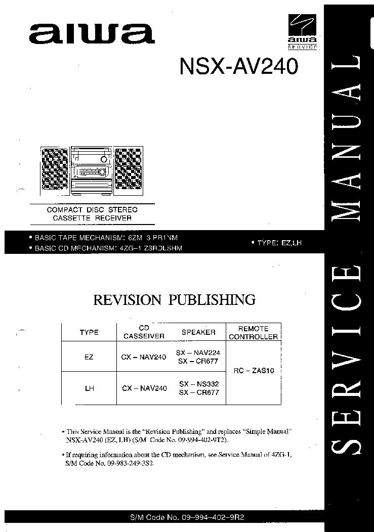 aiwa nsx d858 manual