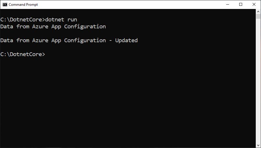 dot net core console application settings