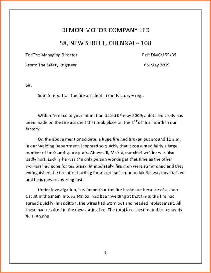 car accident report sample pdf