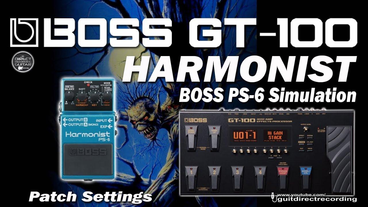 boss gt 6 manual mode