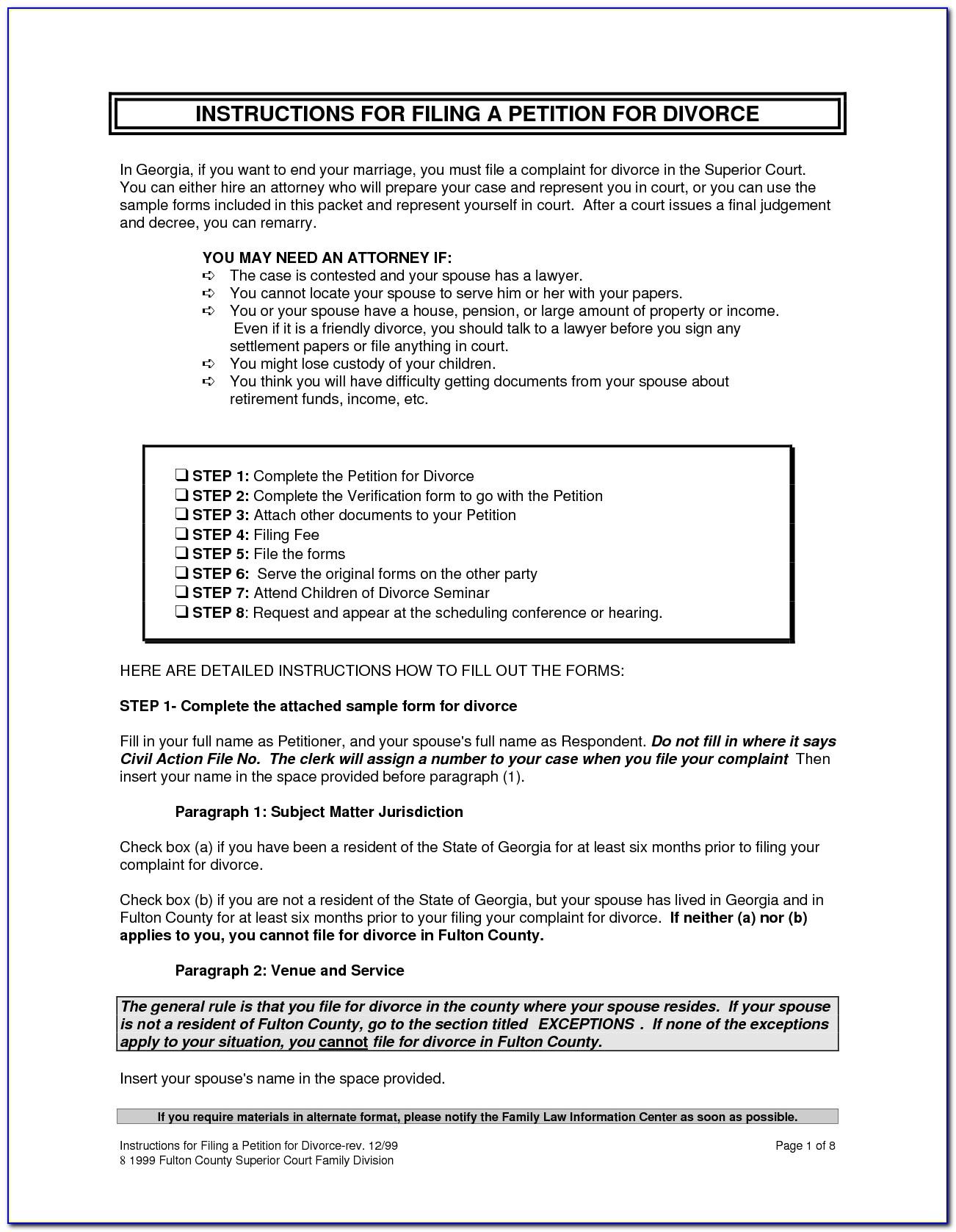 divorce application form