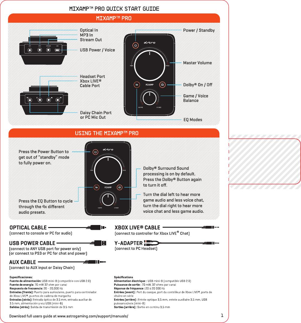 astro a40 mixamp manual