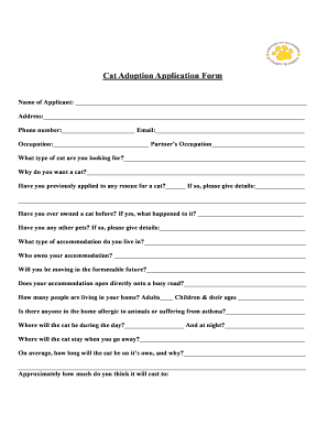cat application form