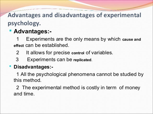 advantages and disadvantages of experimental research pdf