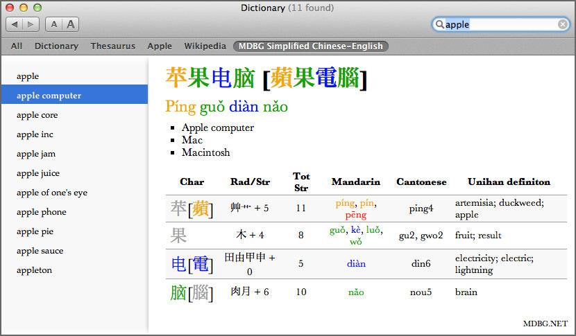 bridge chinese dictionary