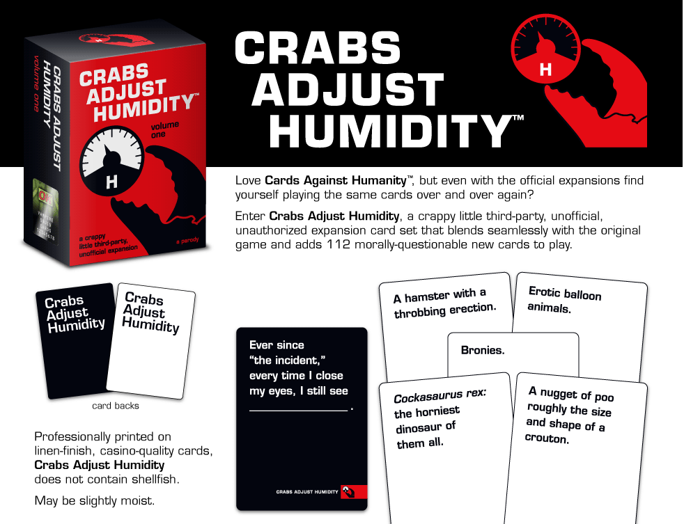 crabs adjust humidity card list pdf