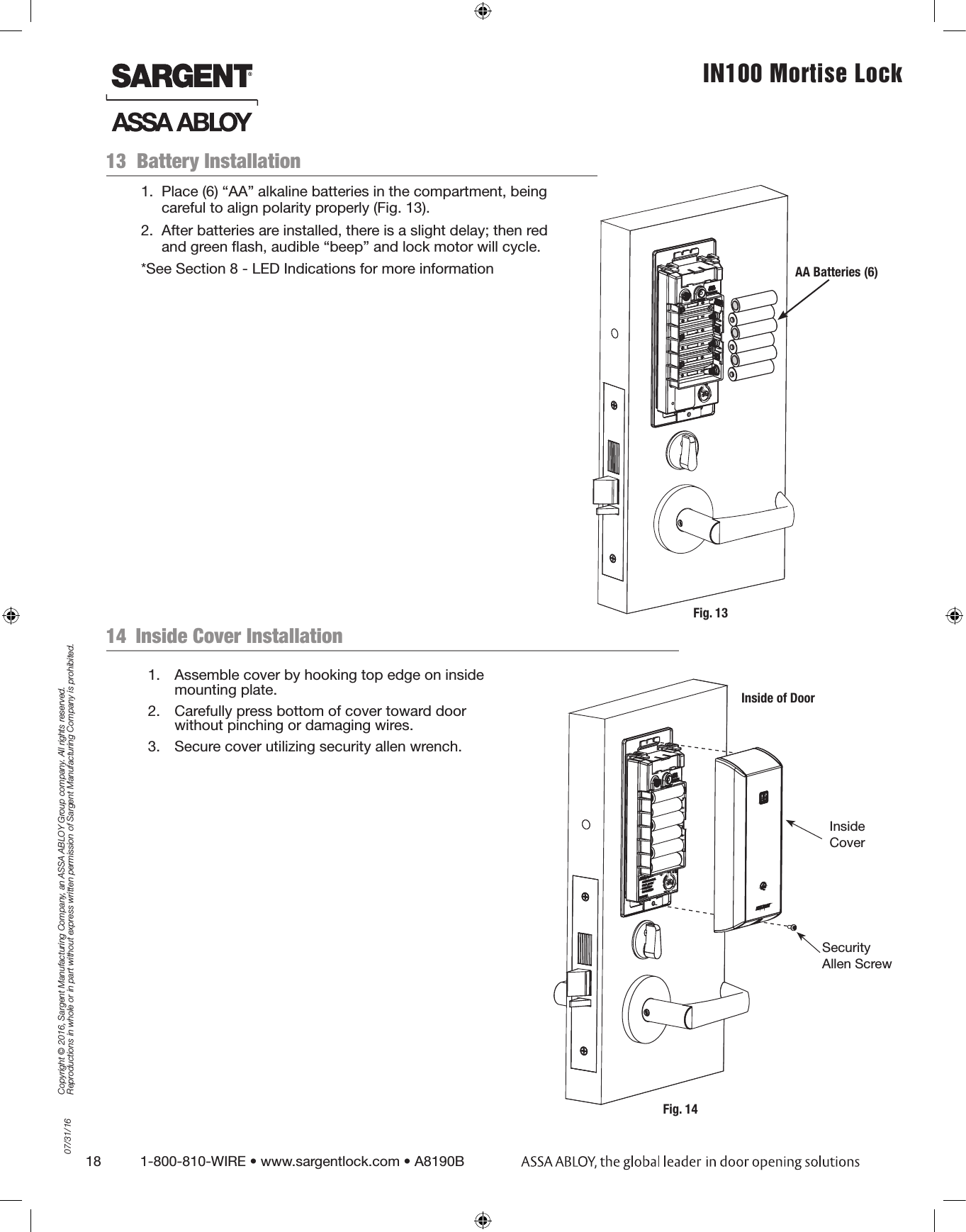 assa abloy aperio installation manual