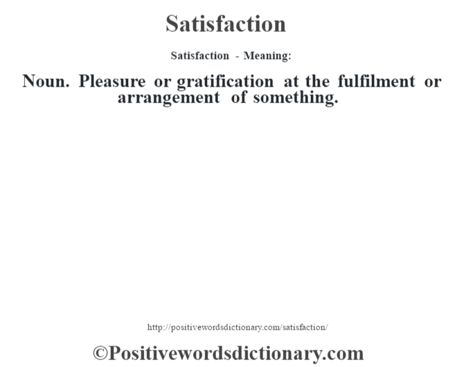 dictionary gratified