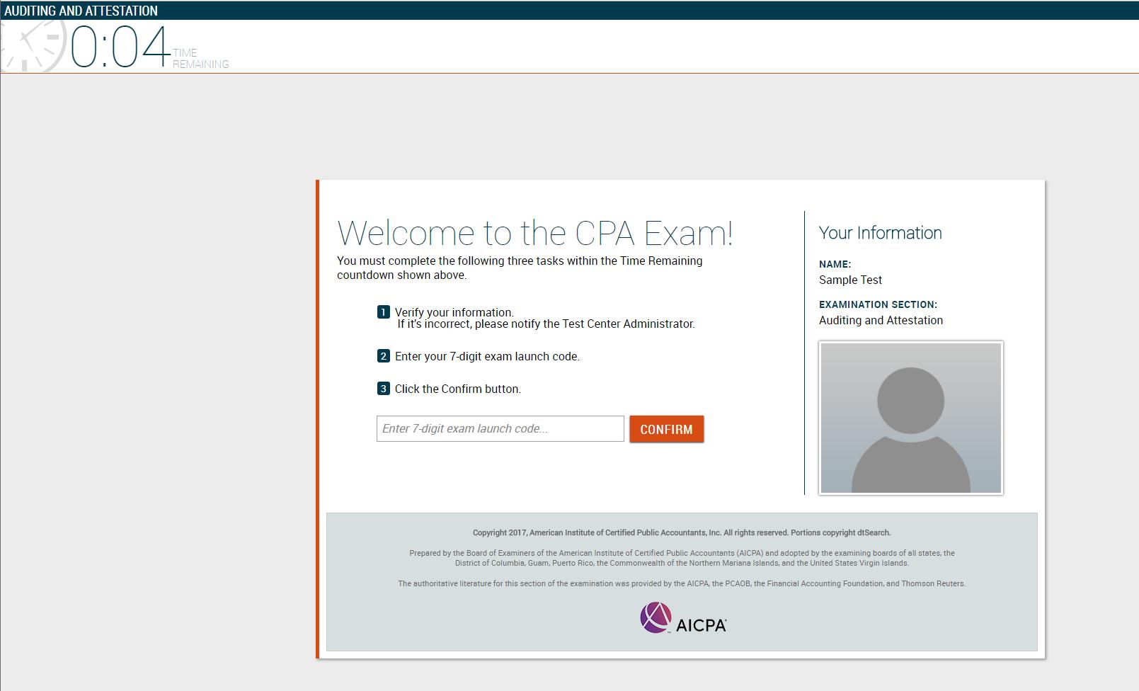 cpa exam sample