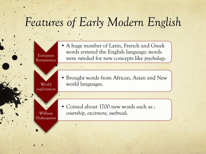 dictionary early modern english