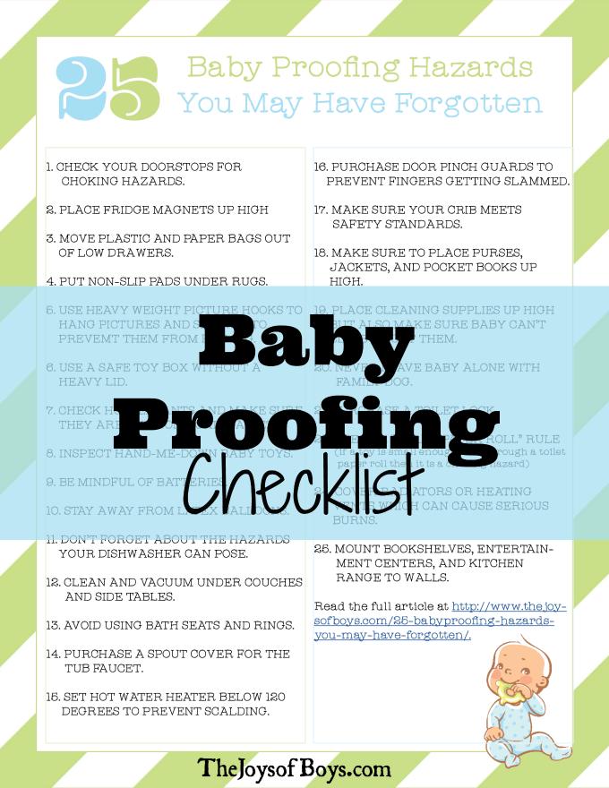 baby proofing checklist pdf