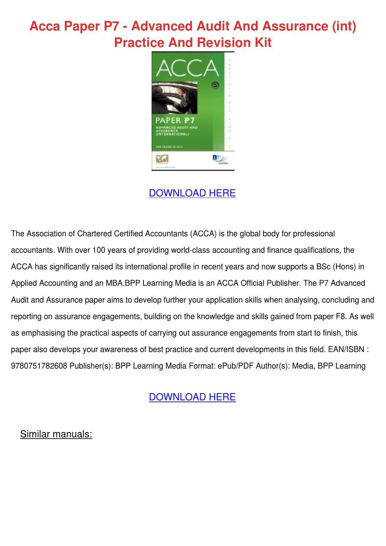 assurance engagement pdf