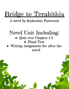 bridge to terabithia whole book quiz pdf
