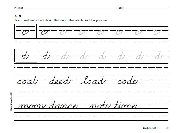 cursive writing practice book free download pdf