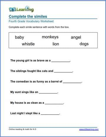 4th grade spelling worksheets pdf