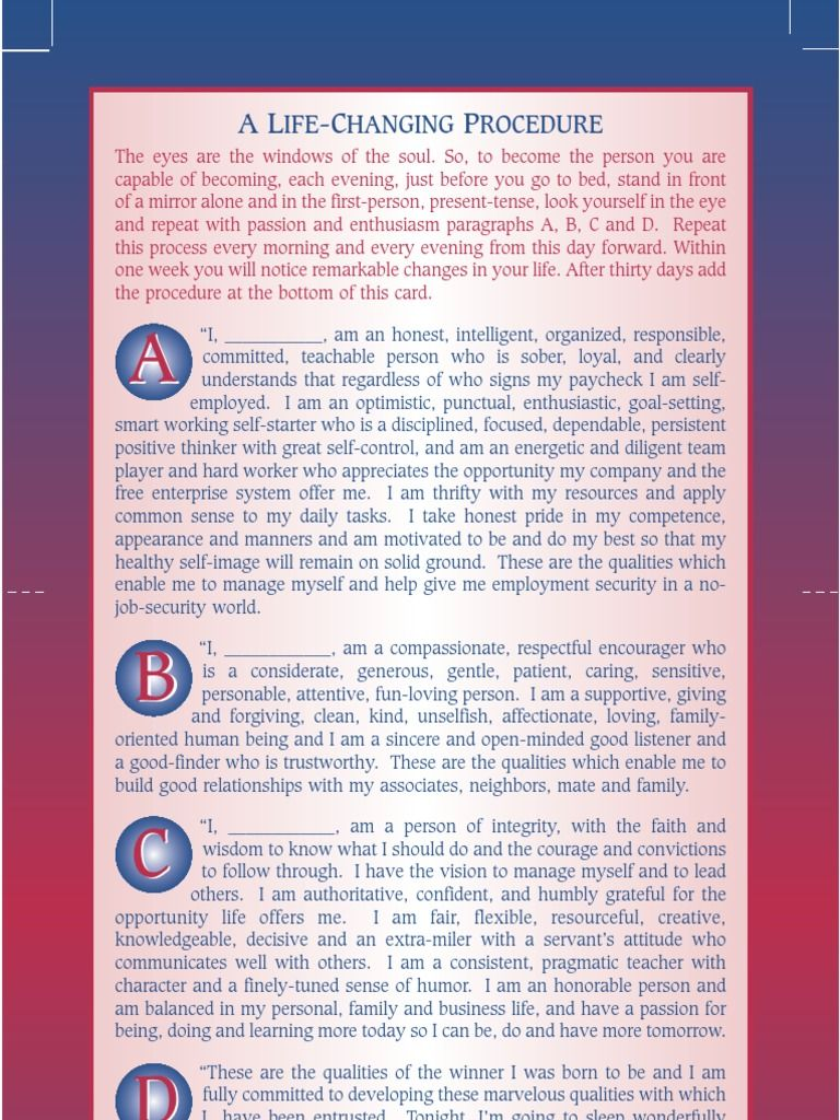 badass affirmations pdf