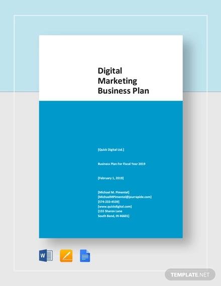 digital agency business plan pdf